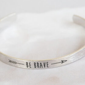Бохо Be Brave Гривна - Сребрист Цвят