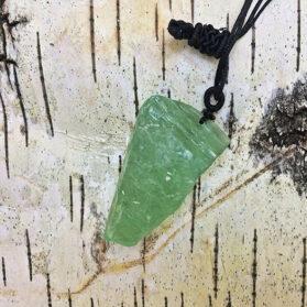 Висулка Зелен Флуорит в Свободна Форма