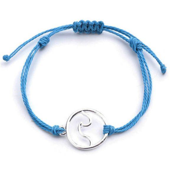 Морско синя гривна
